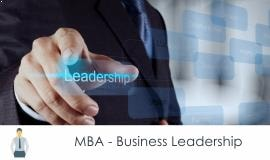 Distance MBA												- Business Leadership