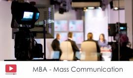 Distance MBA												- Mass Communication