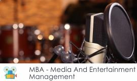 Distance MBA												- Media and Entertainment Management